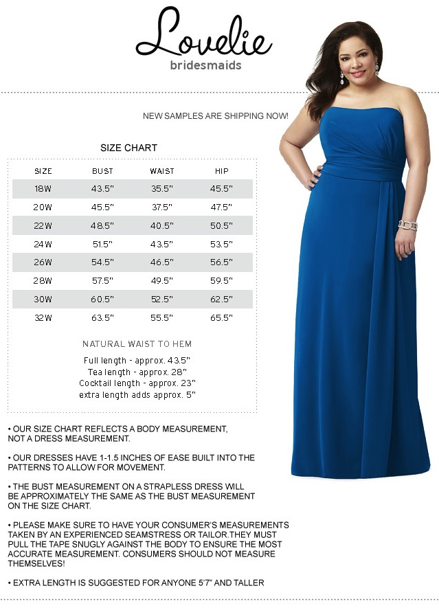 Size Charts For Bridesmaid Dresses 118